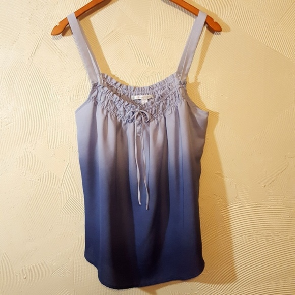 LC Lauren Conrad Tops - Lauren Conrad Silky Nearly Sheer Fading Blues Tank
